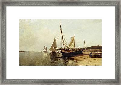 Calm Morning, Portland Harbor Framed Print by Alfred Thompson Bricher