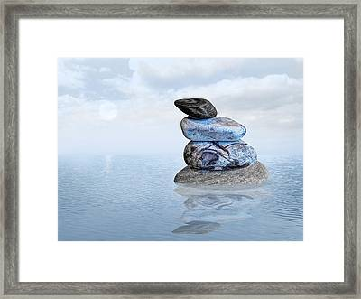 Calm Waters Framed Print by Gill Billington