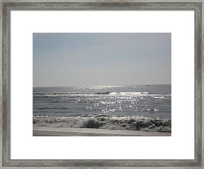Calming Waves Framed Print by Jennifer  Sweet