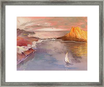 Calpe At Sunset Framed Print by Miki De Goodaboom
