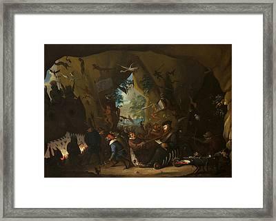Calvin In Hell  Framed Print by Egbert van Heemskerck II