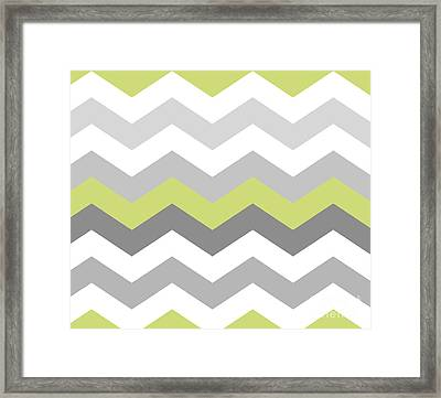Calyx Chevron Pattern Framed Print by Mindy Sommers