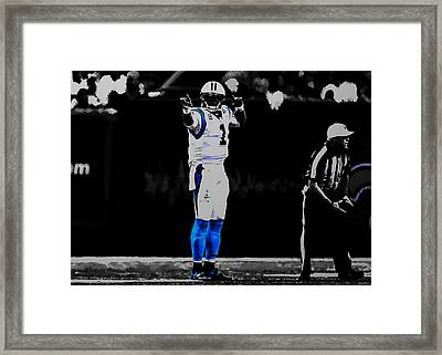 Cam Newton First And Ten Framed Print by Brian Reaves