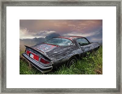 Camaro Classic Hot And Ready Framed Print by Debra and Dave Vanderlaan
