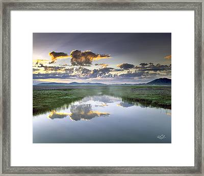 Camas Marsh Framed Print by Leland D Howard