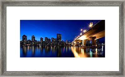 Cambie Street Bridge Over False Creek Framed Print by Terry Elniski