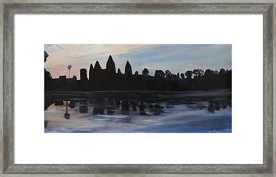 Cambodia Temples Framed Print by Betty Pimm