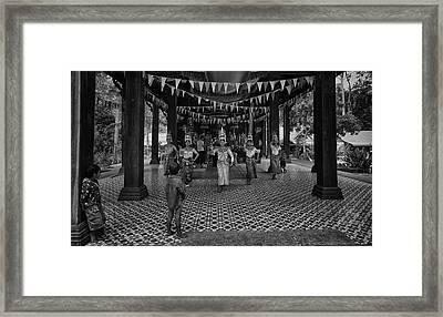 Cambodian Apsara Dancers Framed Print by David Longstreath