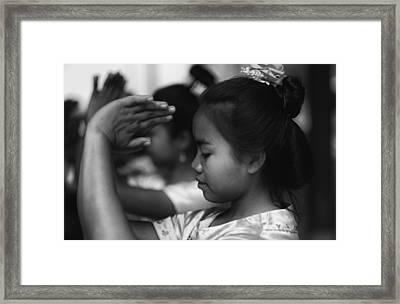 Cambodian Dancer Framed Print by David Longstreath
