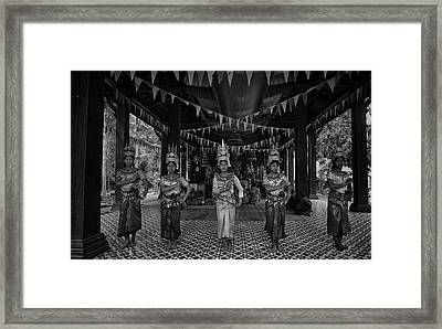 Cambodian Temple Dancers Framed Print by David Longstreath