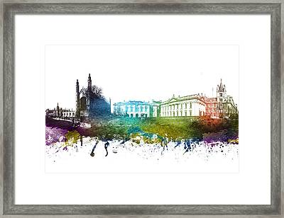 Cambridge Cityscape 01 Framed Print by Aged Pixel