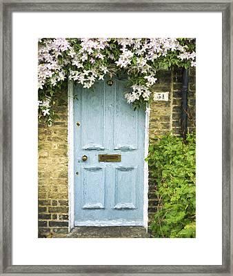 Cambridge Doorway 54 Painterly Effect Framed Print by Carol Leigh