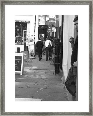 Camden Passage Framed Print by Judi Saunders