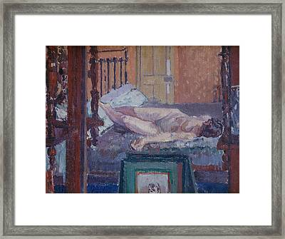 Camden Town Nude Framed Print by Spencer Frederick Gore