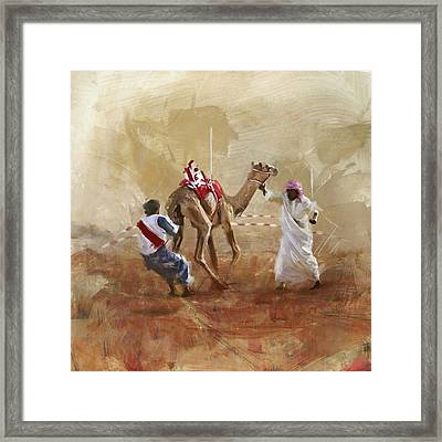Camels And Desert 20 Framed Print by Mahnoor Shah