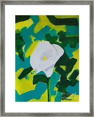 Camo Calla Lilly Framed Print by Marsha Heiken