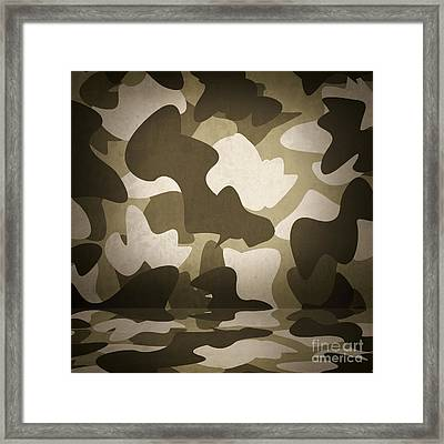 Camouflage Military Interior Background Framed Print by Jorgo Photography - Wall Art Gallery