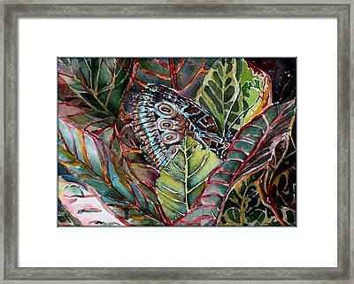 Camouflaged  Framed Print by Mindy Newman