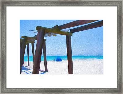 Camp Helen State Park Pier Panama City Beach Florida Art Framed Print by Vizual Studio