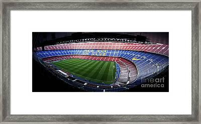 Camp Nou Framed Print by Agusti Pardo Rossello