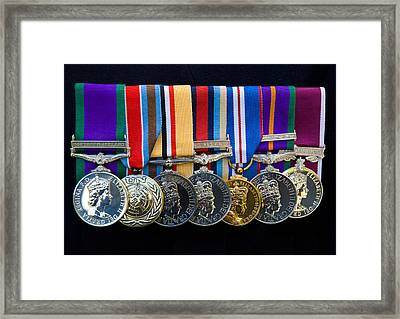 Campaign Medals Framed Print by Peter Jarvis