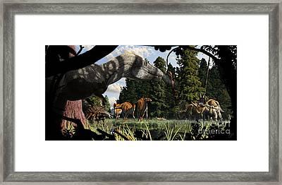 Campanian Montana Landscape Framed Print by Julius Csotonyi