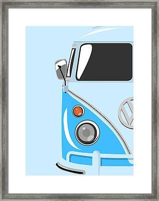 Camper Blue Framed Print by Michael Tompsett