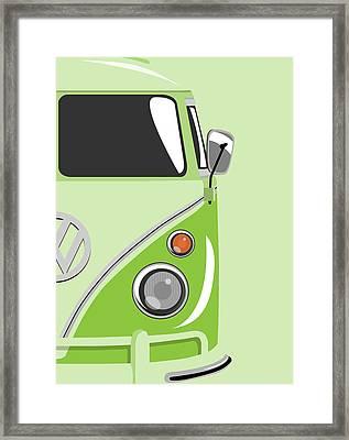 Camper Green 2 Framed Print by Michael Tompsett