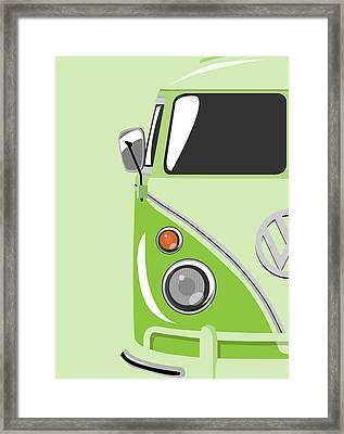 Camper Green Framed Print by Michael Tompsett