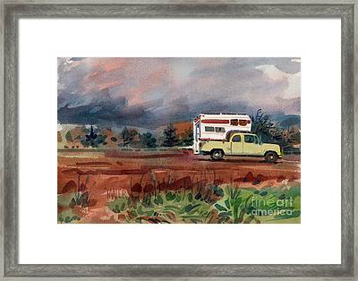 Camper On Pacific Coast Highway Framed Print by Donald Maier