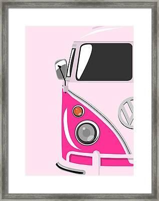 Camper Pink Framed Print by Michael Tompsett