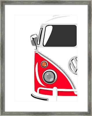 Camper Red Framed Print by Michael Tompsett
