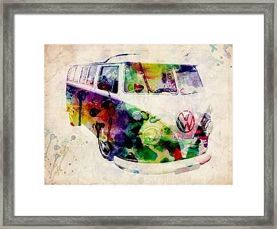 Camper Van Urban Art Framed Print by Michael Tompsett
