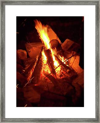Campfire Framed Print by Turtle Caps