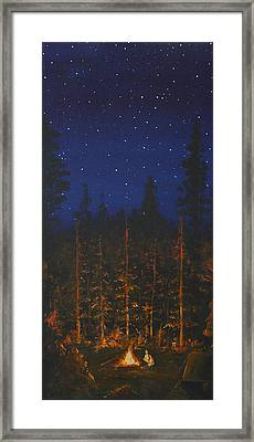 Camping In The Nothwest Framed Print by Jennifer Lynch