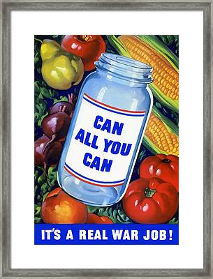 Can All You Can -- Ww2 Framed Print by War Is Hell Store