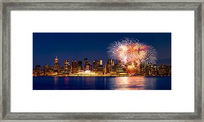 Canada Day 2015 In Vancouver Framed Print by Alexis Birkill