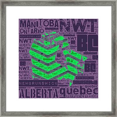 Canada Green Framed Print by Brandi Fitzgerald