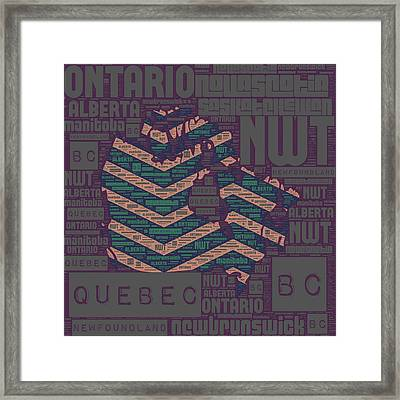 Canada Navy Framed Print by Brandi Fitzgerald