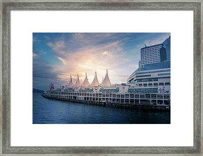 Canada Place Framed Print by Art Spectrum