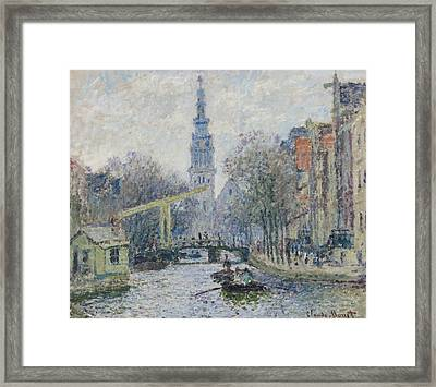 Canal Amsterdam Framed Print by Claude Monet
