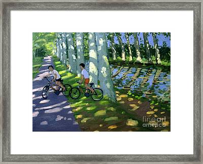 Canal Du Midi France Framed Print by Andrew Macara