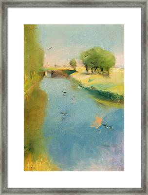 Canal Framed Print by Lesser Ury