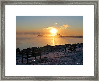 Canal Park At 18 Below Framed Print by Alison Gimpel