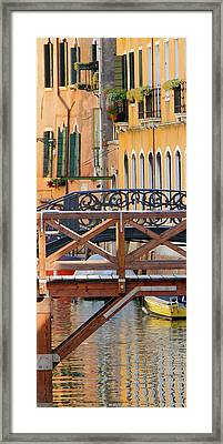 Canal Reflection 1 Framed Print by Vicki Hone Smith