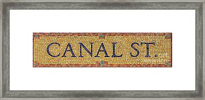 Canal Street Sign Framed Print by Jannis Werner