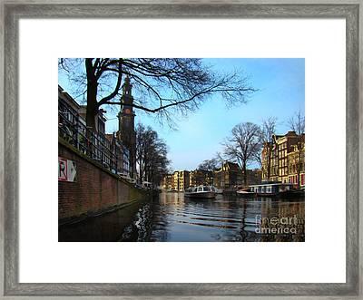 Canals Of Amsterdam IIi Framed Print by Al Bourassa