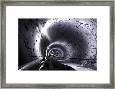 Cananda Line Tunnel Framed Print by Liz Towers