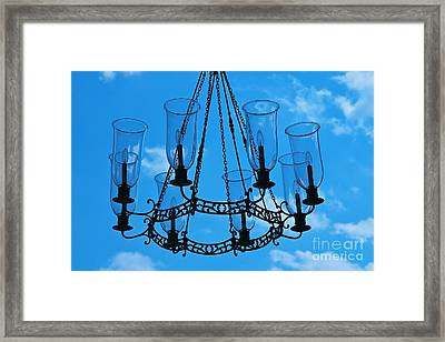 Candle In The Sky Framed Print by Hideaki Sakurai