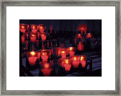 Candle Lights Framed Print by Art Spectrum